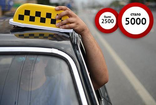 Штраф за шашку такси, работа в такси без лицензии и документов